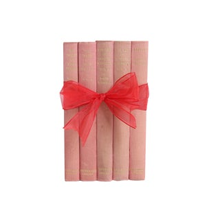"Vintage Book Gift Set: ""Pink"" Non-Fiction - Set of 5"