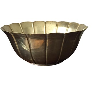 Large Hand Wrought Brass Bowl
