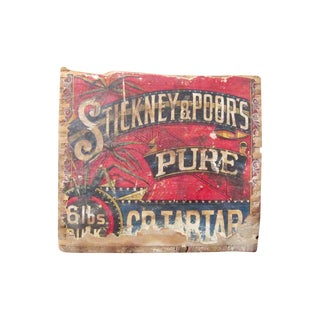 Stickney and Poor's Antique Wood Advertising Box