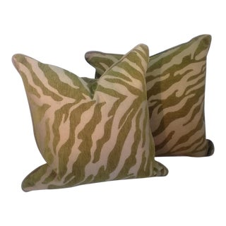 Zebra Stripes Accent Pillows - Pair