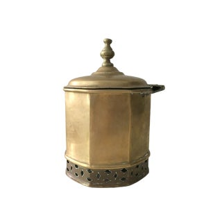 Primitive Moorish Brass Octagonal Kettle / Container