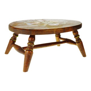 Vintage Pennsylvania Dutch Wooden Stool