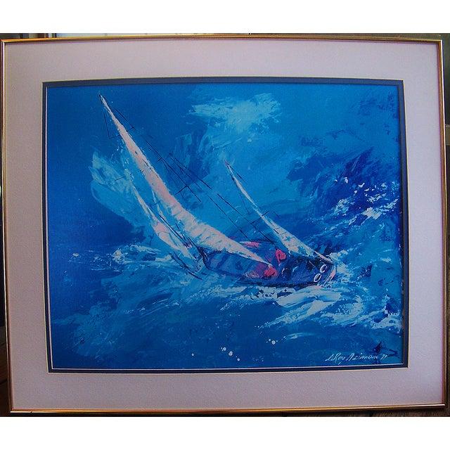Image of Leroy Neiman Sailing Framed Print