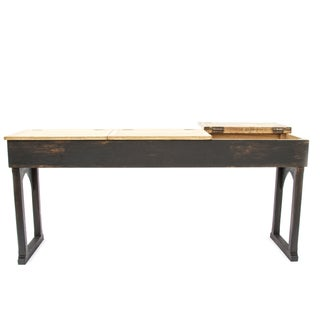 French Vintage Schooldesk Console