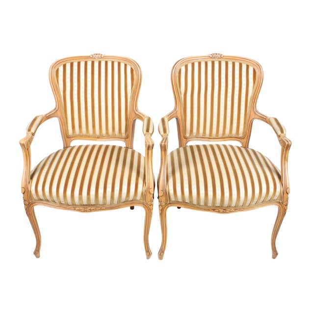 Rococo-Style Armchairs - A Pair - Image 1 of 4