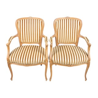 Rococo-Style Armchairs - A Pair