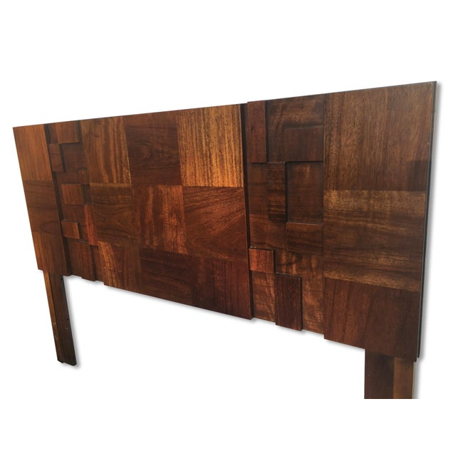 Queen Size Brutalist Headboard By Paul Evans For The Lane Furniture Company Chairish