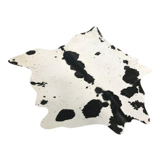 Black & White Speckled Cowhide Rug - 5′9″ × 6′2″