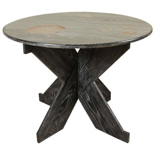 Martin & Brockett Circle Entry Table With X Base