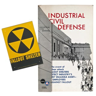 1964 Civil Defense Stand-Up Display With Fallout Shelter Sign