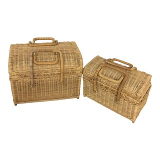 Wicker Picnic Baskets - a Pair