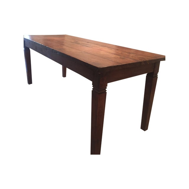 Reclaimed Wood Rectangular Rustic Dining Table - Image 1 of 5