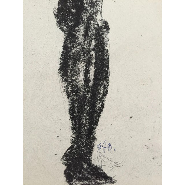 1960's Charcoal Female Silhouette Frank J. Bette - Image 5 of 5