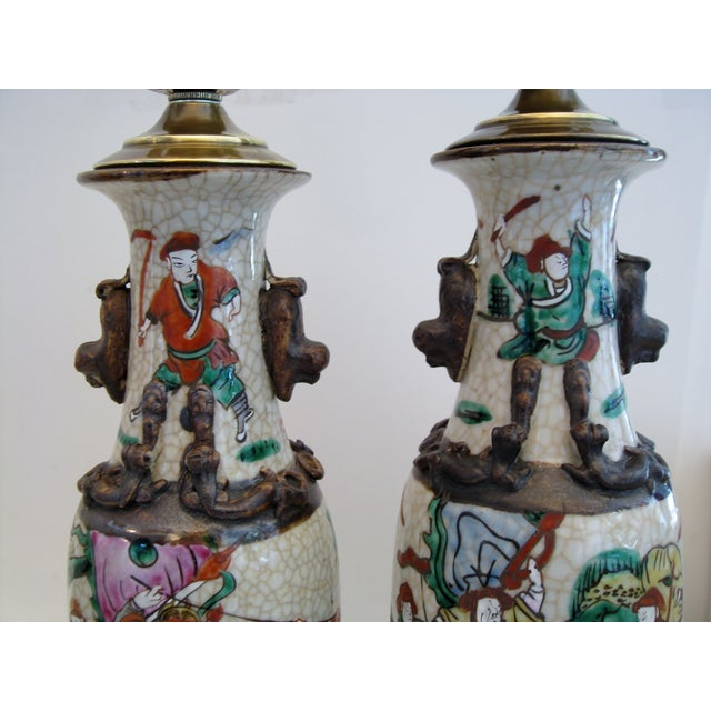 Image of Chinese Porcelain Lamps, A Pair
