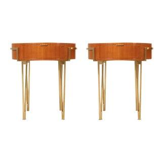 Cherry Mid-Century Modern Tables - A Pair