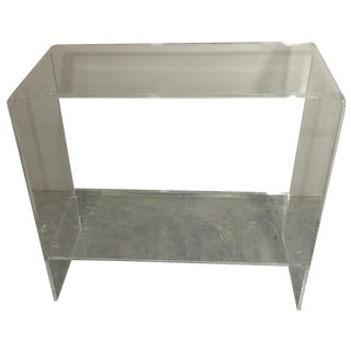 Lucite Waterfall Console with Shelf