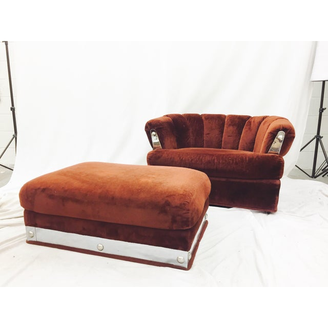 Vintage Mid-Century Modern Chair & Ottoman - A Pair - Image 4 of 11