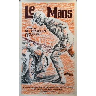 Vintage 1960s Le Mans Automobile Club Poster