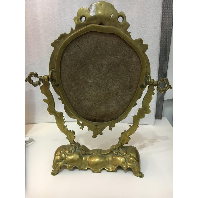 Vintage 1930's Brass Table Top Mirror - Image 10 of 11
