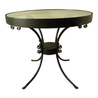 Mid-Century Iron Garden Table