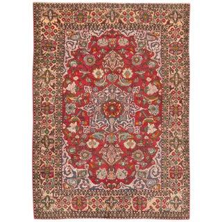 """Apadana - Vintage Persian Tabriz Rug, 4'7"""" x 6'6"""""""