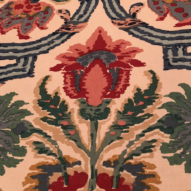 """Lee Jofa's """"New Sevilla"""" in Multi Linen Fabric - Almost 3 Yds - Image 3 of 7"""