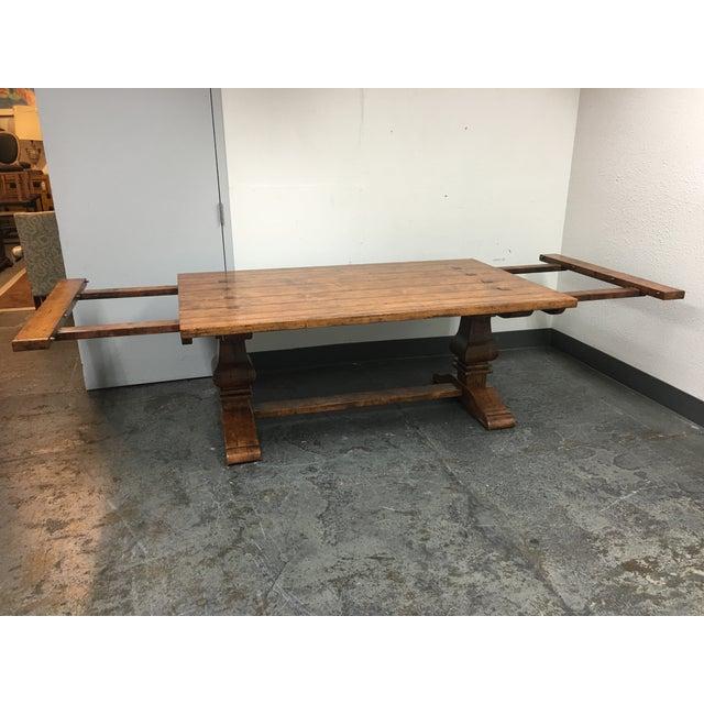 Guy Chaddock Little Hampton Pedestal Trestle Table - Image 11 of 11
