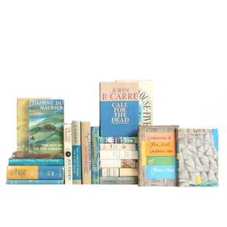 Teal & Tan Dust Jacket Classic Books - Set of 20