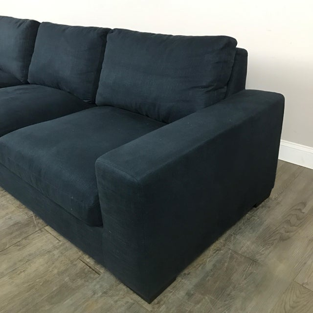 Navy Canvas Modern Sectional Sofa Chairish