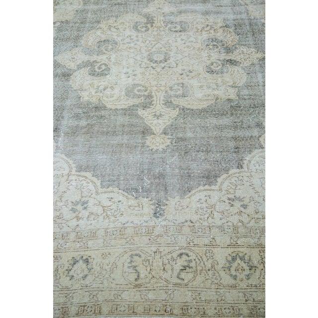 "Distressed Scalloped Oushak Carpet - 6'10"" x 10'3"" - Image 3 of 5"
