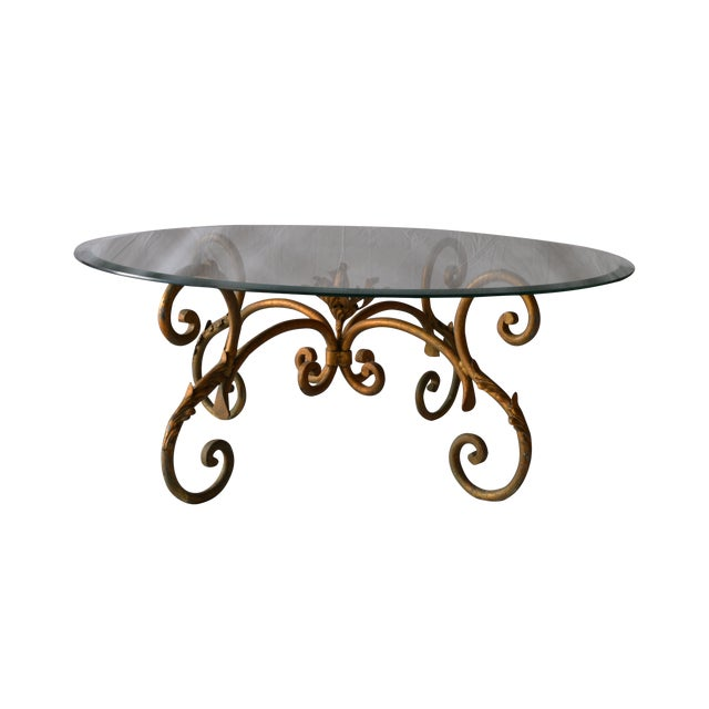 Vintage Italian Gilded Base Cocktail Table - Image 1 of 6