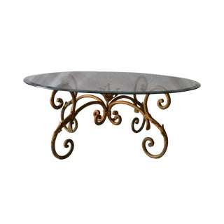 Vintage Italian Gilded Base Cocktail Table