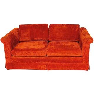 Mid-Century Modern Crushed Velvet Couch