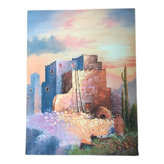 Southwest Signed Pueblo Painting