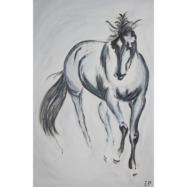 Pete V Large Horse Painting Equine Abstract - Image 1 of 4
