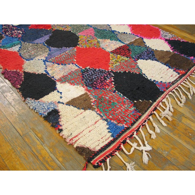"Traditional Moroccan Boucherouitte Rug - 4'2"" x 6'6"" - Image 3 of 5"