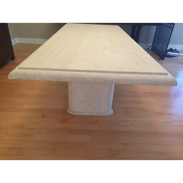 Kreiss Travertine Dining Table - Image 6 of 11