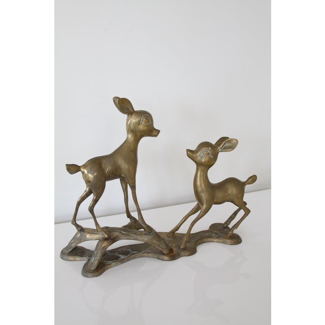 Brass Fawn Statue - Image 4 of 6