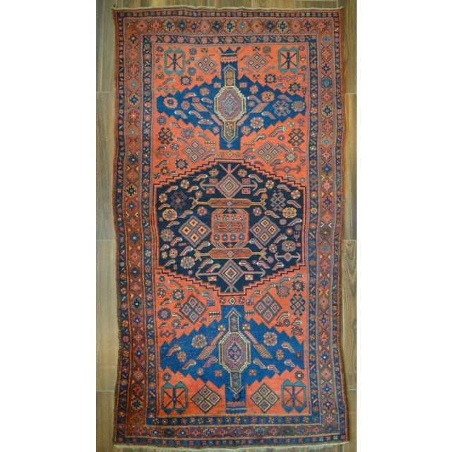 "Antique Persian Bidjar Long Rug - 4'5"" x 8'3"" - Image 2 of 9"