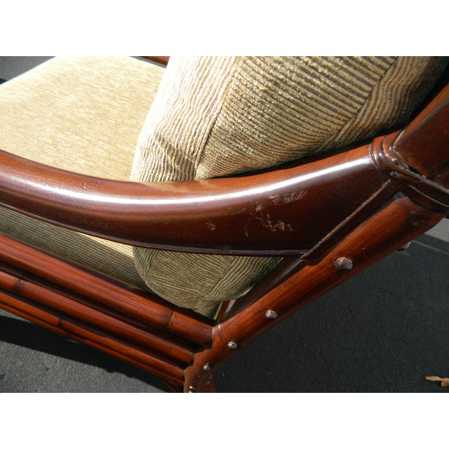 Palecek Colonialwood Club Chairs - A Pair - Image 8 of 11
