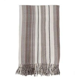 Tan & White Guatemalan Blanket