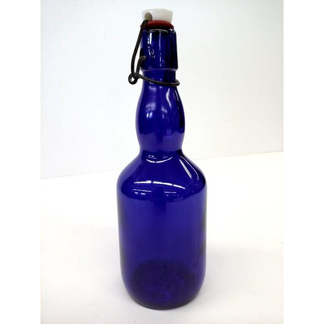 Image of Cobalt Blue Spring Top Beer Bottle
