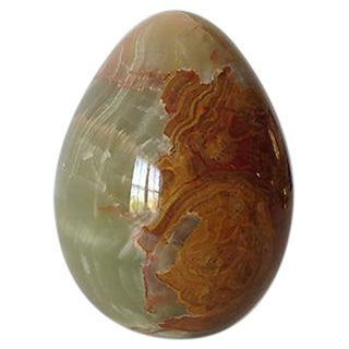 Onyx Large Egg-Shaped Paperweight or Accent