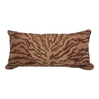Kravet Bronze Tiger Chenille Lumbar Pillow