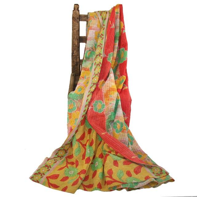 Vintage Red Kantha Quilt - Image 3 of 3