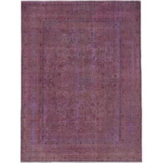 "Vintage Turkish Overdyed Rug - 9'7"" x 12'6"""