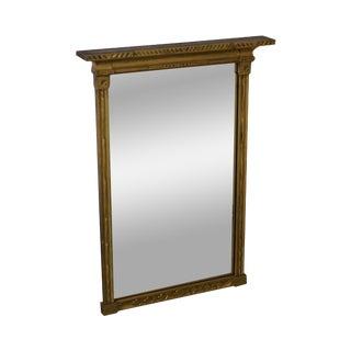 Antique Gilt Wood Impressionist Wall Mirror