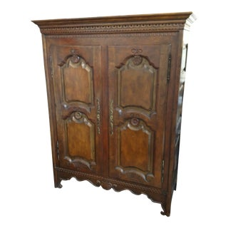 Baker Solid Walnut Armoire