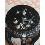Image of Antique Hand Carved Chinoiserie Garden Stool