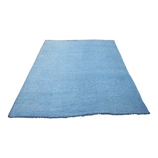 Blue Turkish Handspun Wool Kilim Rug - 8'9 X 10'11""